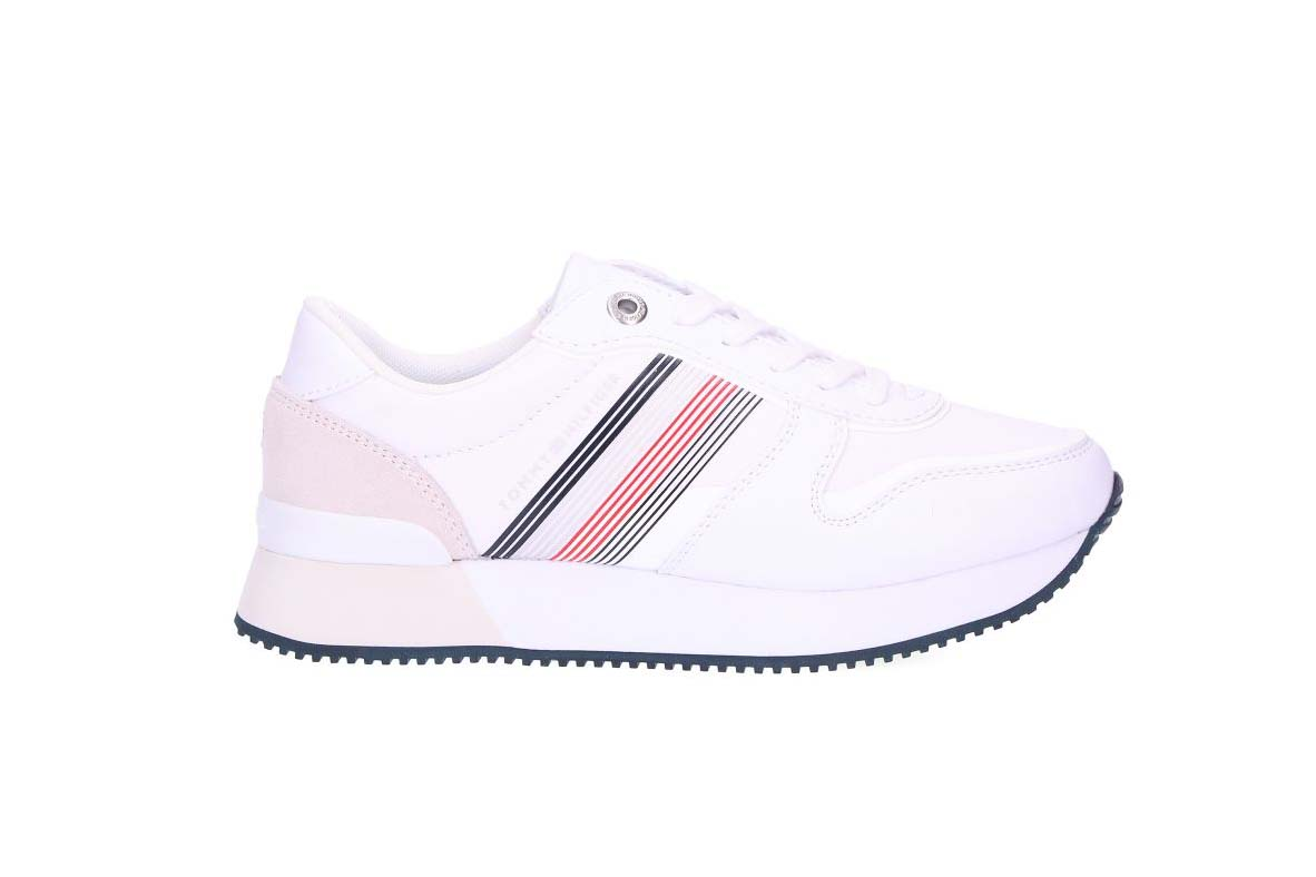 TOMMYHILFIGER SNEAKERS DONNA TESSUTO WHITE