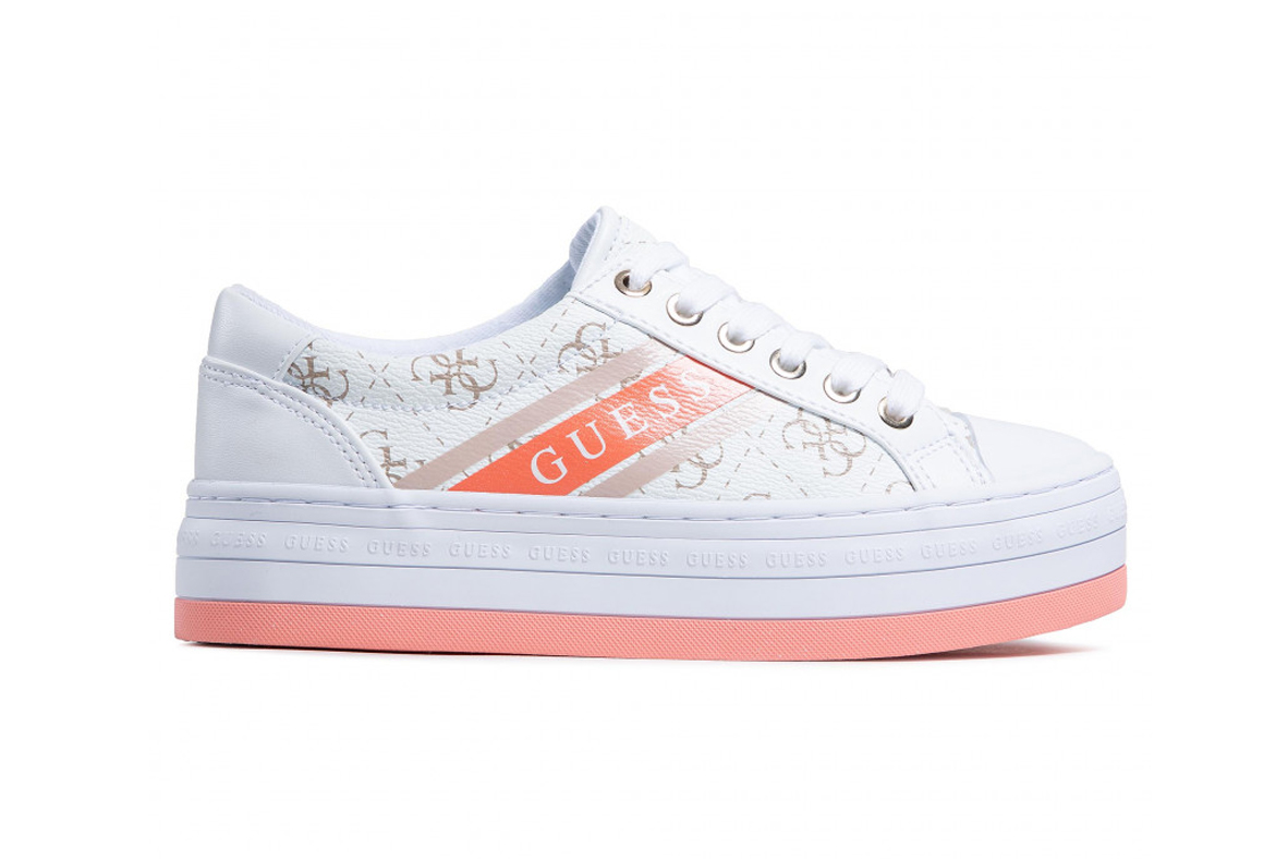 GUESS SNEAKERS DONNA PELLE WHITE