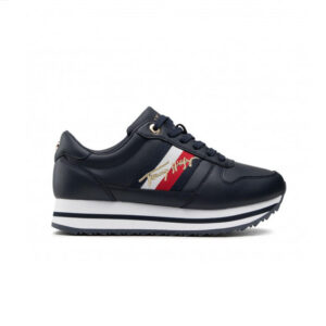 TOMMYHILFIGER SNEAKERS DONNA ECO PELLE BLU