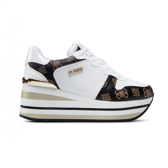GUESS SNEAKERS DONNA ECO PELLE BIANCO